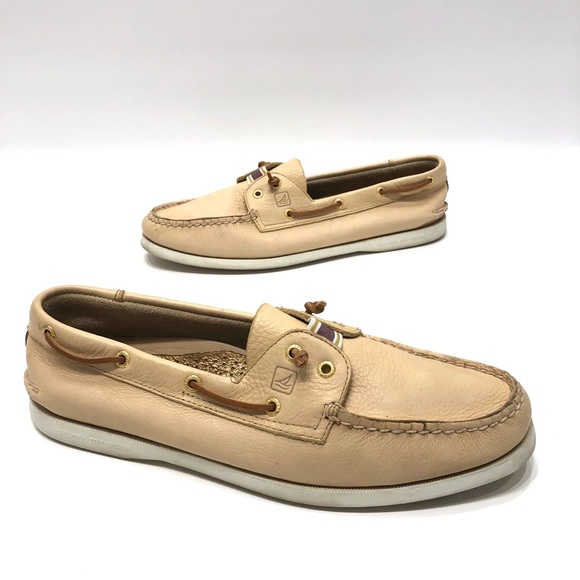 Sider Beige Leather Womens Shoes